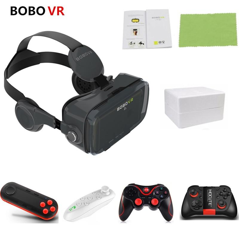 BOBOVR Z4 Leather Helmet 3D Cardboard VR Glasses Virtual Reality VR Glasses Stereo Headset Bobo Vr Box For 4-6 inch Mobile Phone