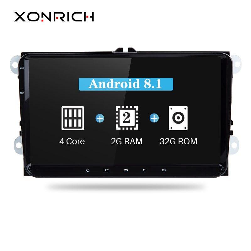 Xonrich 2 Din Android 8 1 Car Multimedia For Amarok Volksagen VW Passat B6 golf 56