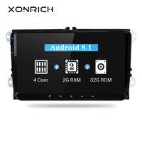 Xonrich 2 Din Android 8.1 Car Multimedia For Amarok Volksagen VW Passat B6 golf 56 Skoda Octavia 2 Superb 2 Seat Leon Navigation