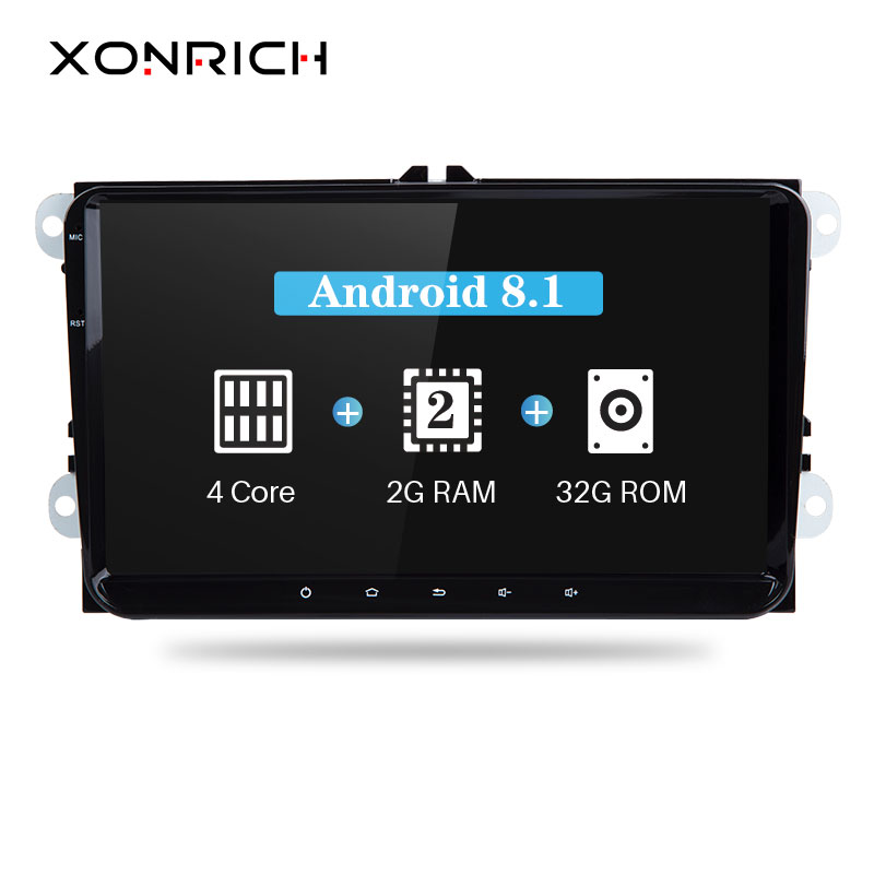 Xonrich 2 Din Android 8.1 Voiture Multimédia Pour Amarok Volksagen VW Passat B6 golf 56 Skoda Octavia 2 Superbe 2 seat Leon Navigation