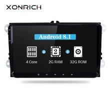 Xonrich 2 Din Android 8,1 Автомобильный мультимедийный для Amarok Volksagen VW Passat B6 Гольф 56 Skoda Octavia 2 Superb 2 Seat Leon навигации
