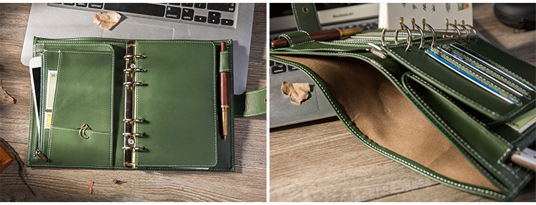 couro genuíno caderno do viajante diário diário