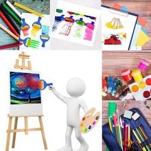 Горячий Раннее Обучение Мини Цветок Губки для рисования кисти ремесленные кисти набор для детей FBA лучший подарок на день рождения