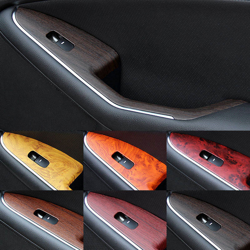100*30cm Safe Door Central Car Sticker Waterproof DIY Car Styling Wrap Roll Wood Grain Textured Auto Internal Decoration