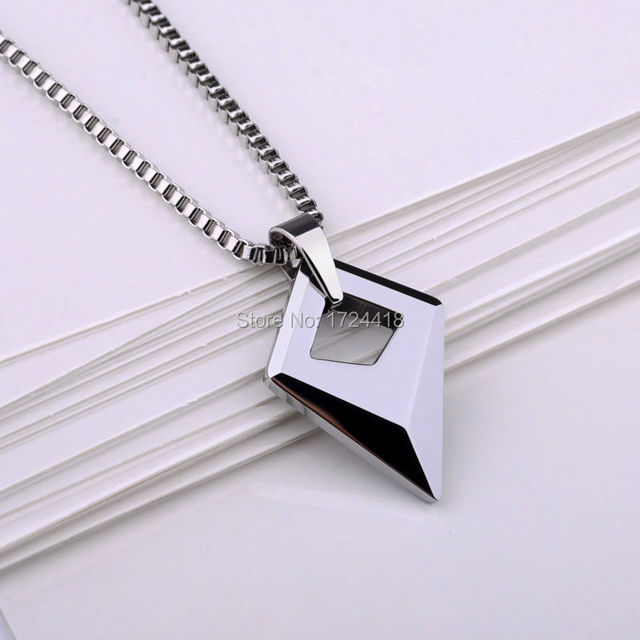 Man Jewelry Mirron Polished Tungsten Pendant With 2.0 Titanium Steel Necklace High Quality Male Pendant