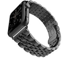 Pour Bracelet En Acier Inoxydable Classique Boucle Adaptateur Lien Bracelet Montre Bande pour Apple Watch & Sport & Edition-42/38mm