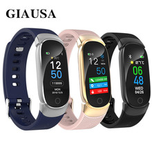 GIAUSA Smart Watch Women Men Heart Rate Blood Pressure Monitor Fitness Tracker Alarm Call Reminder Smartwatch Clock Sport Watch giausa smart watch women ip67 waterproof watch heart rate sleep monitor information call reminder smart sport watch men box