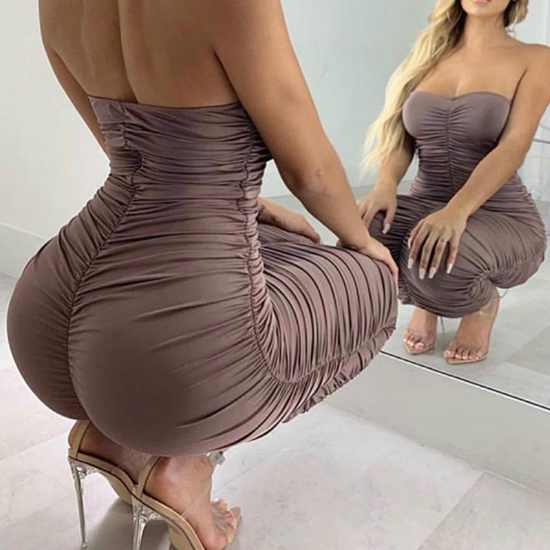 Summer Dress Ruched Party Dress Women Off Shoulder Sexy Long Bodycon Dress Fashion Runway Slim Elegant Dresses Women 39 s Clothing in Dresses from Women 39 s Clothing