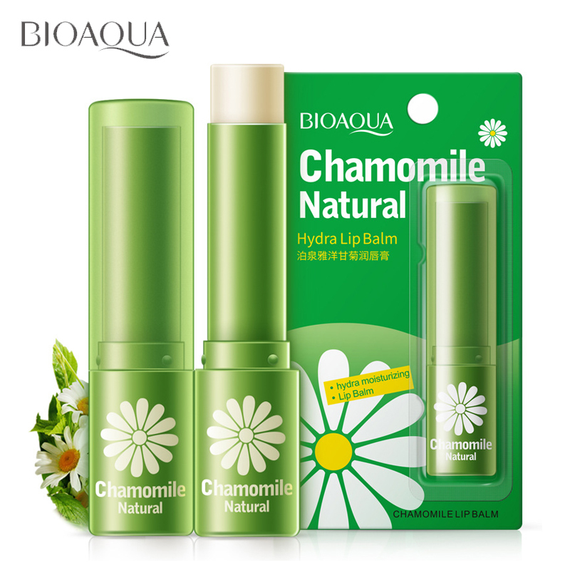 beauty & health natural chamomile moisturizing lip balm repair lips wrinkles fade lip lines lipstick lip care BIOAQUA skin care