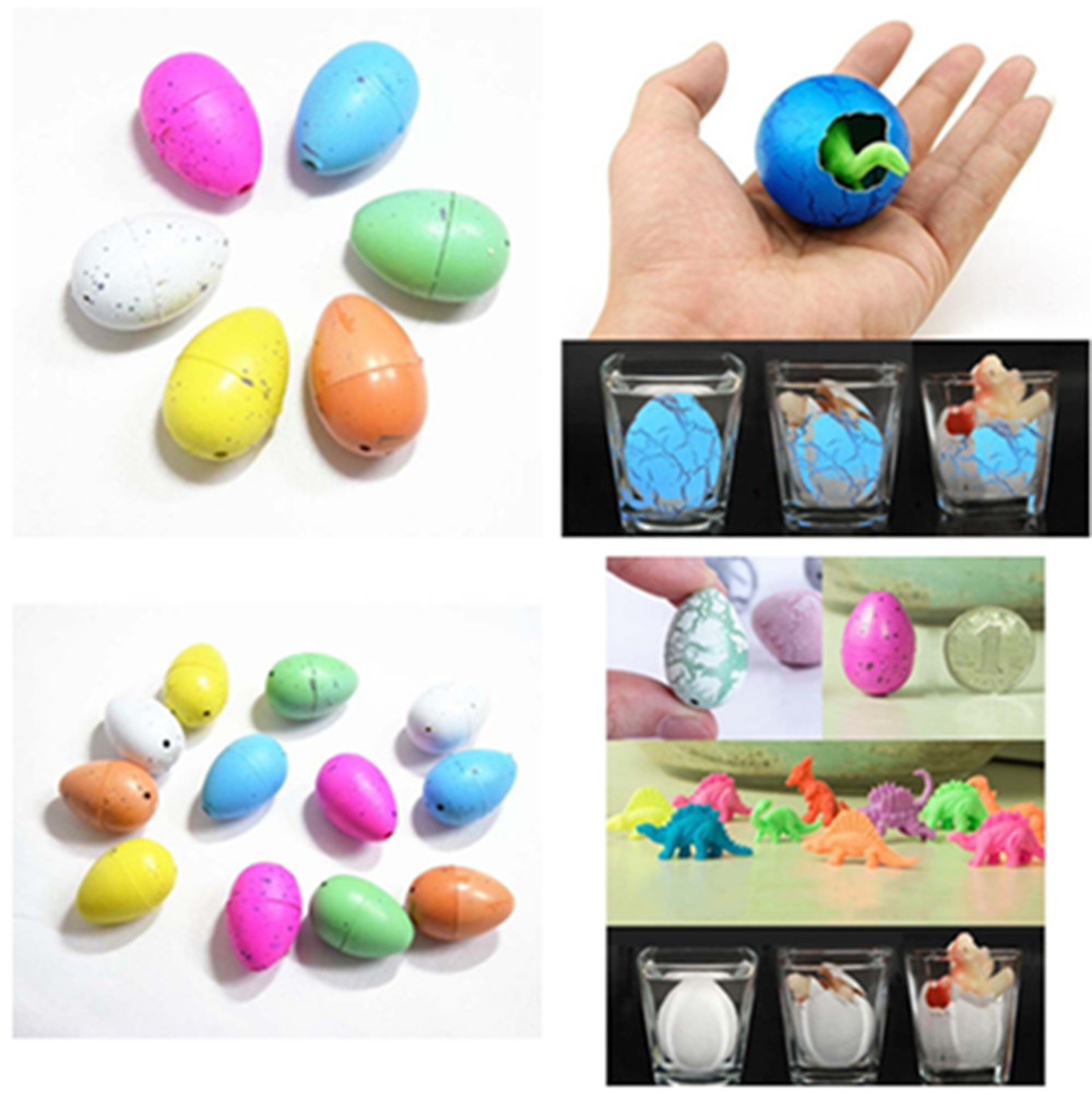 Cute Magic Hatching Growing Dinosaur Eggs Add Water Growing Dinosaur Novelty Gag Toys For Child Kids Educational Toys Gifts