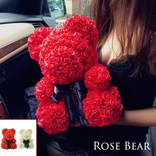 20 25 40cm Rose Bear Tanabata Valentine Dried Flower Everlasting Hug Sending Girlfriend Wedding