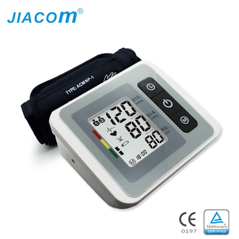 Arm blood pressure monitor tonometer pulsometro digital upper portable health monitors meters care sphygmomanometer cuff newest blood pressure monitor 24 hours monitor handhold digital upper arm with voice broadcast sphygmomanometer