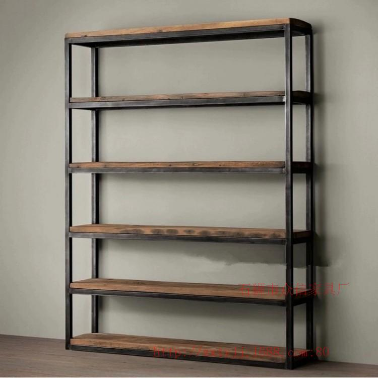vintage wood shelf floor bedroom home housed living room furniture wrought iron shelf bookcase. Black Bedroom Furniture Sets. Home Design Ideas