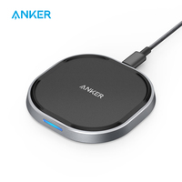 Anker Wireless Charger with USB C 15W Metal PowerWave Fast Charging Pad Qi Certified 7.5W for iPhone 10W for Galaxy and more