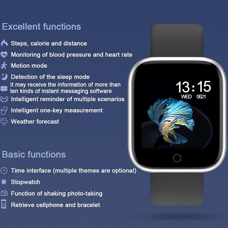 Bracelet intelligent Fitness Tracker fréquence cardiaque oxygène sanguin surveillance du sommeil Smartband étanche Calories sport Bracelet montre hommes