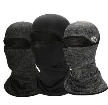New Motorcycle Face Mask Ice Fabric Balaclavas Summer Sunscreen Windproof Cycling Neck Cover Outdoor Sports Running Sc