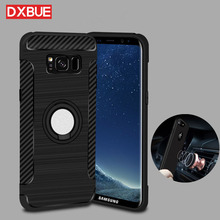 Здесь можно купить   360 full Back cover For galaxy S8 S8plus Magnetic Ring Holder Back Cases For Samsung A3 A5 A7 2017 Compatible With Car Holder Mobile Phone Accessories & Parts