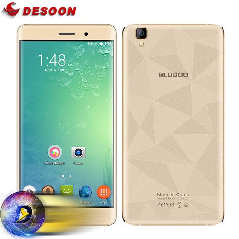 """Цена за На Складе MT6580A Bluboo Майя Мобильный телефон Android 6.0 Quad Core 5.5 """"HD 2 Г RAM + 16 Г ROM 3000 мАч Батареи 13MP Камера Металлический Каркас"""