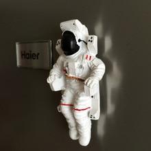 Астронавт Мемориал коллектор магнит холодильник прикрепленный к китайскому астронавту 3D Магнитный