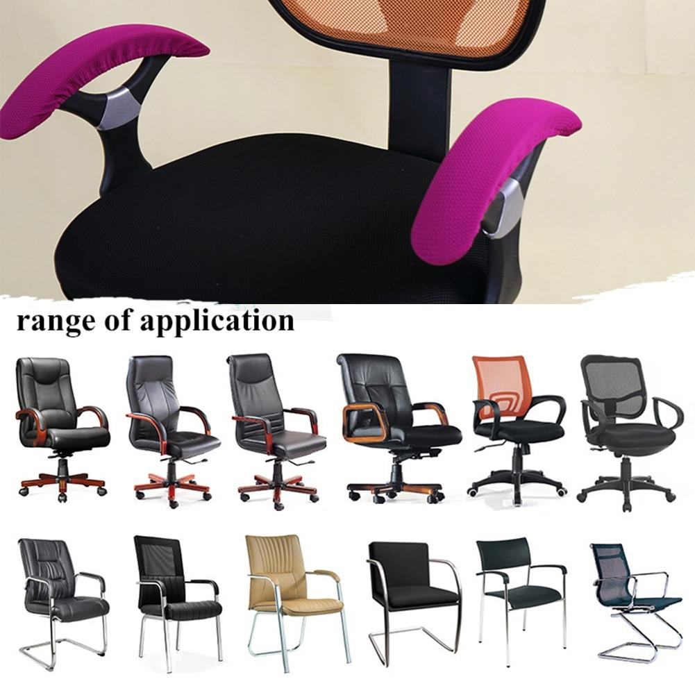 Elastic Armrest Cover Chair Cover Spandex Stripe Armrest Cover Case Zipper