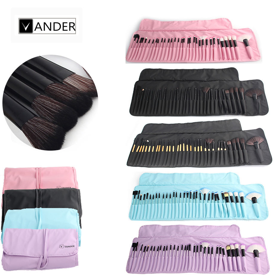 Vander 32Pcs Set Professional Makeup Brush Foundation Eye Shadows Lipstick Powder Cosmetic Brushes Tools pincel maquiagem w/ Bag 24 pcs professional makeup brushes beauty woman s kabuki cosmetic makeup brush set tools foundation brush pincel de maquiagem