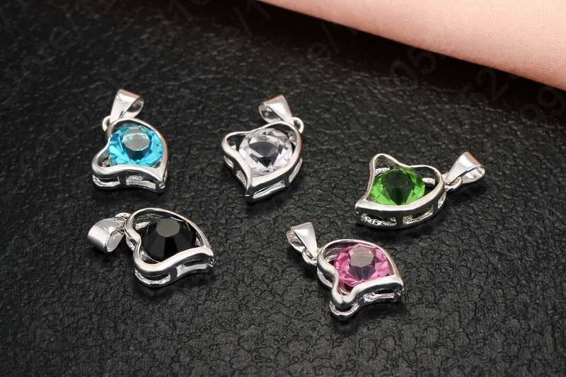 Coração pingente forma 925 prata esterlina colar brincos de argola conjuntos melhor presente romântico para o amante/namorada/irmã/mãe