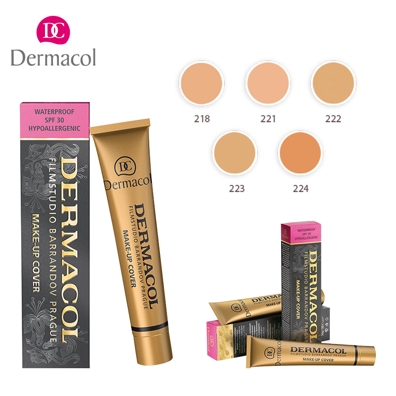 Authentic Dermacol Base Make up Cover And Makeup Pro Face Corrector Makeup 30g Primer Concealer Cream Base Cover Tattoos недорого