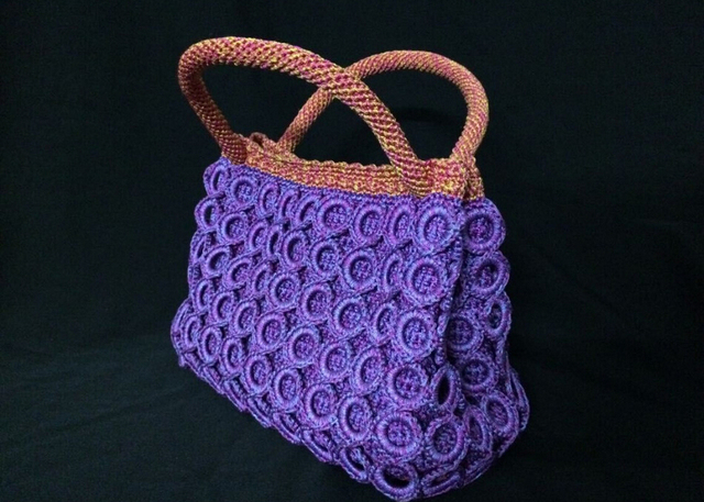 Hand Crochet Bags For Women Cotton Weave Shoulder Bag Fashion Knitting Handbags Free Shipping