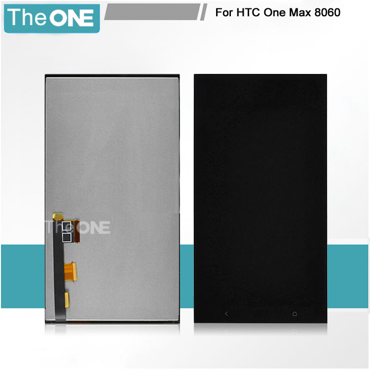 TOP Quality Black Full LCD Display + Touch Screen Digitizer Assembly For HTC ONE MAX Replacement Parts Free Shipping top quality black full lcd display touch