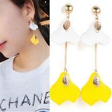 RAVINOUR Women Earrings Fashion Jewelry Gold Leaf Acrylic