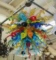 Lustre multicolore en verre de Murano haute suspension lumière LED lustre Chihuly