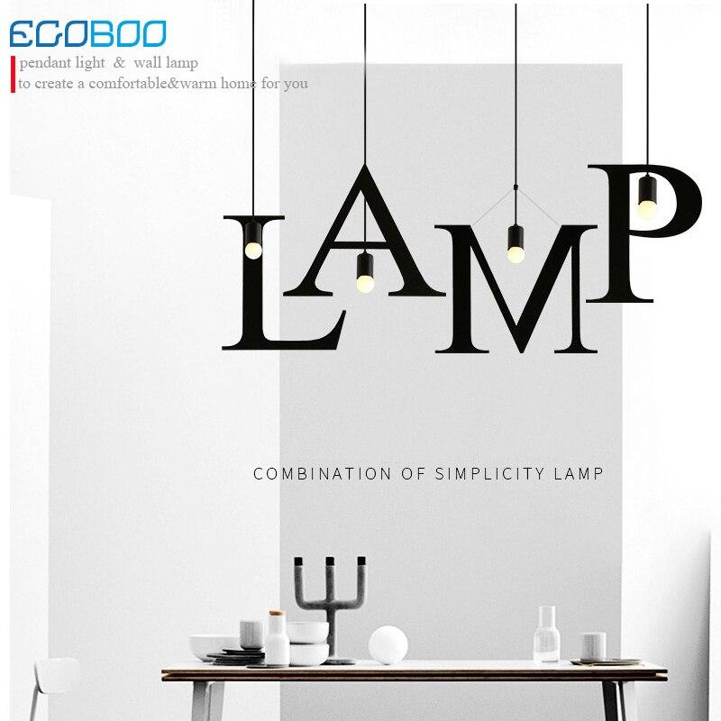 LOFT Nordic Modern  Pendant Lamps Restaurant Coffee Shop Creative Iron English Combination Light