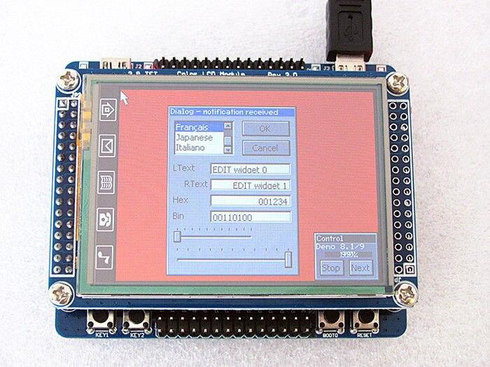 ФОТО STM32F103RBT6 development board +  2.8