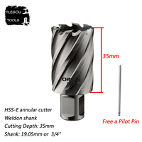 22 35mm HSS E Annular Cutter With Weldon Shank 35 35mm High Speed Steel Core Drill