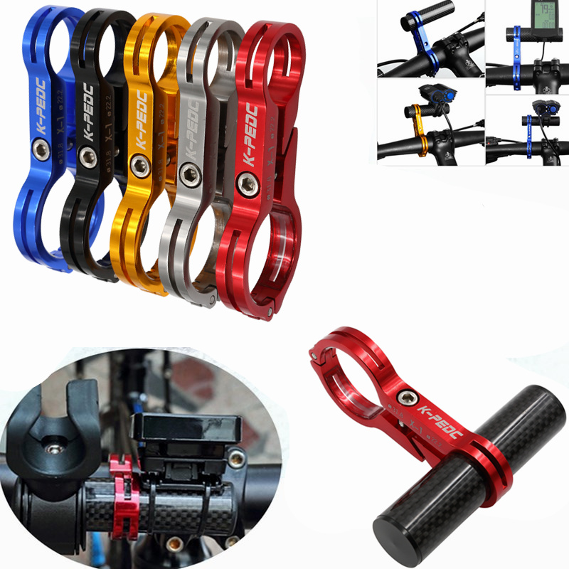 Road Bicycle Bike Handlebar Extension Mount Carbon Fiber Extender Holder for Light Computer Extended 31.8MM Cycling Handle Bar full carbon fiber bicycle bike code table holder frame bicycle handlebar mount frame computer holder for red