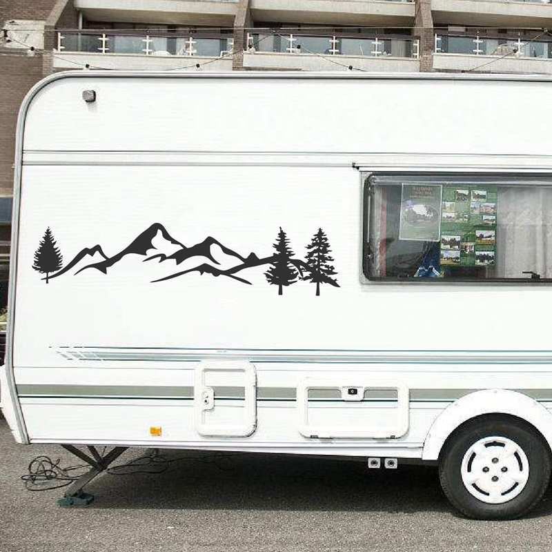 Car,Van,Vinyl Graphics,Sticker,Decal,Transfer Campsite Retro Caravan