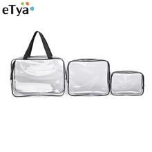 eTya Transparent PVC Cosmetic Bag Men Women Travel Makeup