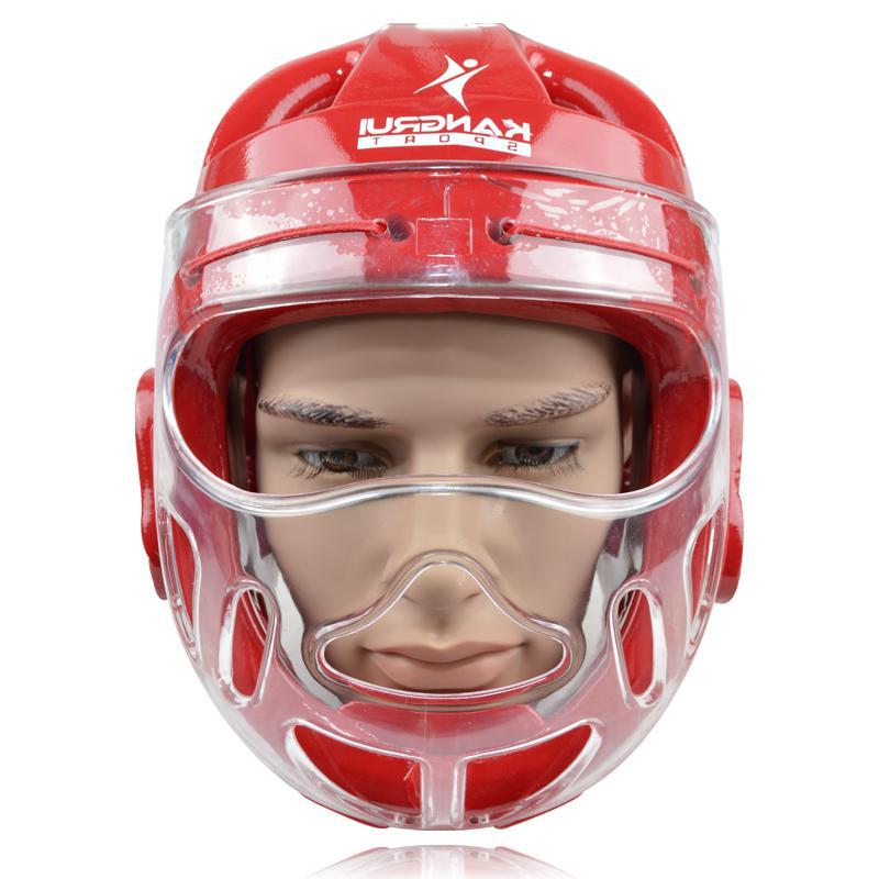 Высокая производительность прочный каратэ шлем KK561 синий для взрослых мужчин и женщин Борьбы Тхэквондо защитником ММА головные уборы бокс ...