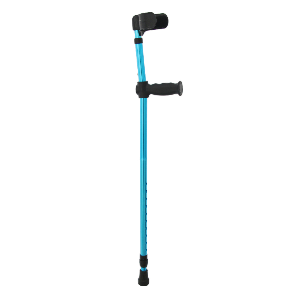 Elderly Handicapped Disabled Adults Foldable Walking Forearm Crutches Stick Support Legs After Injury or Surgery