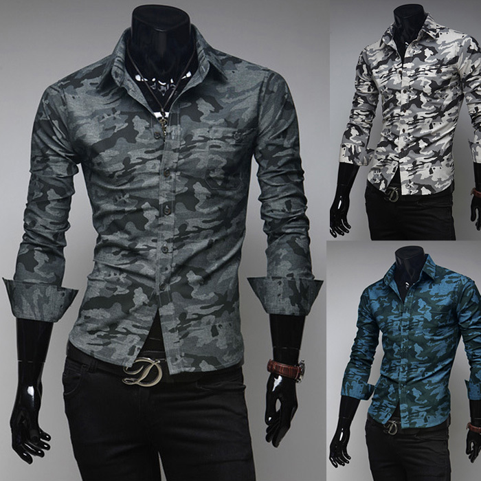 f771e4e5d0 Fashion Men 2014 uniform wind Metrosexual must have New Camouflage Design Shirts  Long Sleeve Autumn Slim Fit Casual Men Shirt -in Casual Shirts from Men s  ...