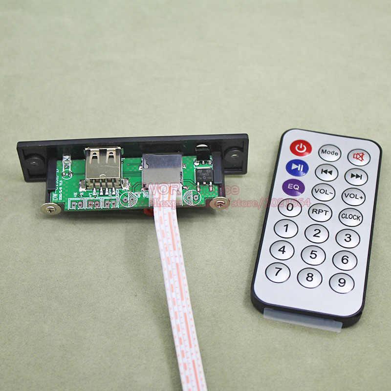 1 компл./лот + 5V ~ + 12 V MP3 WAV аудио декодер модуль печатной платы USB TF аудио декодер с черным Панель провода, инфракрасный пульт управления