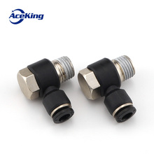 Black outer hexagonal pneumatic fitting connector ph4-m5/01/02/03/04 ph4/6/8/10/12 cylinder air tube quick insert fast