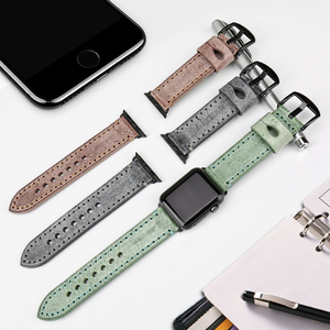 Image 4 - MAIKES Vintage Genuine Leather Watch Strap Watchband For Apple Watch Bands 44mm 40mm 42mm 38mm Series 6 5 4 3 2 iWatch Bracelet