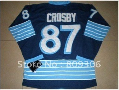 Free shipping  Penguins #87 Sidney Crosby 87 Ice hockey jerseys size 48-56, can mix order