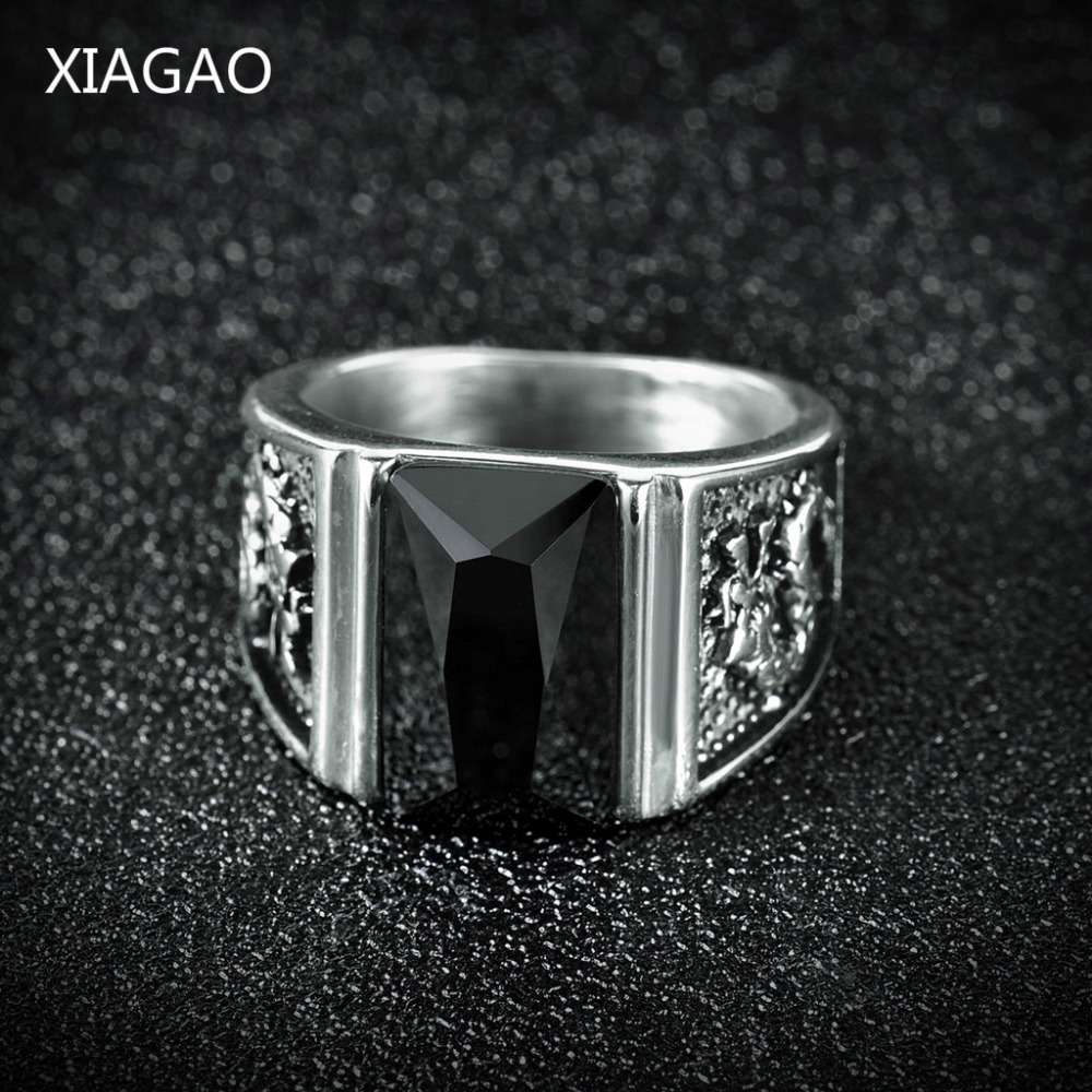 Xiagao Vintage Antique Goldsilver Color Crystal Ring For -6487