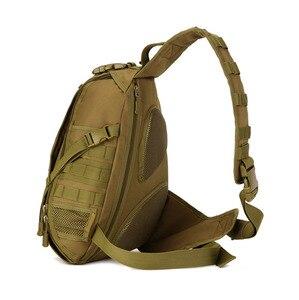 Image 5 - Erkekler 1000D naylon Sling göğüs çanta su şişesi gün geri paketi çapraz vücut Messenger omuz paketi askeri seyahat sürme yeni