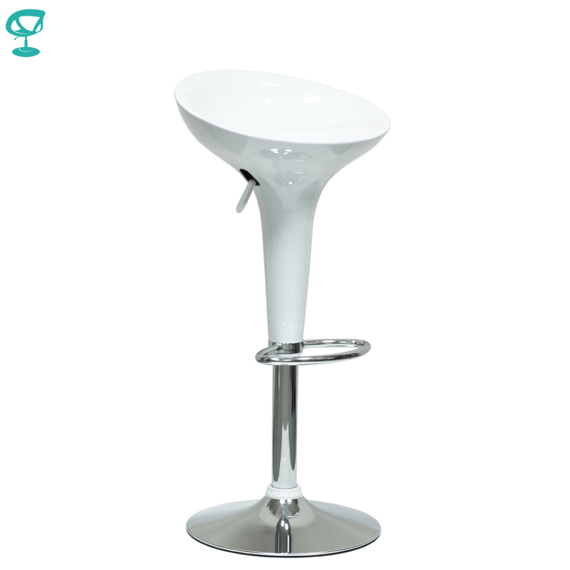 94674 Barneo N-100 Plastic High Kitchen Breakfast Bar Stool Swivel Bar Chair White Free Shipping In Russia