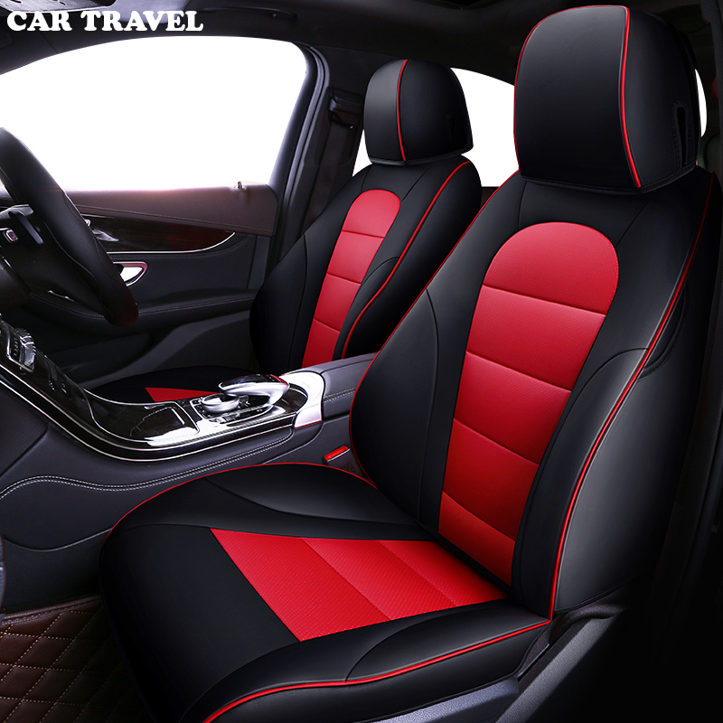 CAR TRAVEL Custom leather car seat cover for Mercedes Benz A B C D E S series Vito Viano Sprinter Maybach CLA CLK car seats-in Automobiles Seat Covers from Automobiles & Motorcycles    1