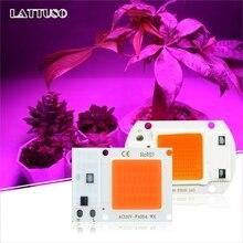 COB светодиодный чип Фито лампа полного спектра AC 220V 110V мощностью 10 Вт, 20 Вт, 30 Вт, 50 Вт, ручная сборка для комнатных растений рост рассады и цветок роста растений освещение