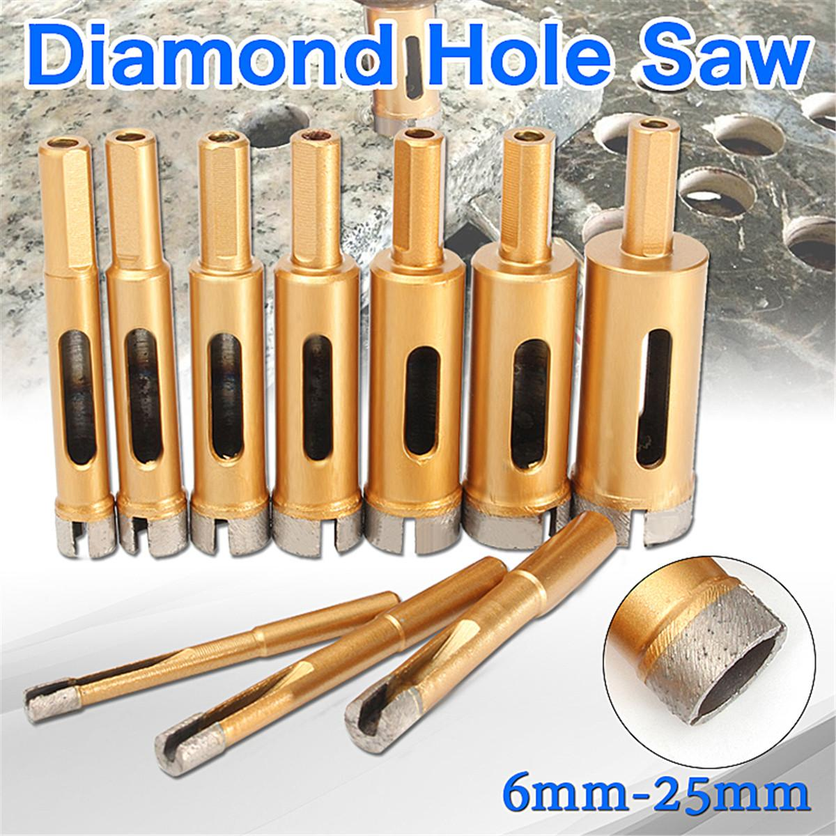 6/8/10/12/14/16/18/20/22/25 Mm Diamond Drill Bit Hole Saw Tile Glass Marble Glass Hole Cutter punch 10 mm nickel plating glass drill bit marble ceramic tile x 6